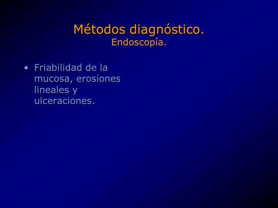 Métodos diagnóstico. Endoscopía.