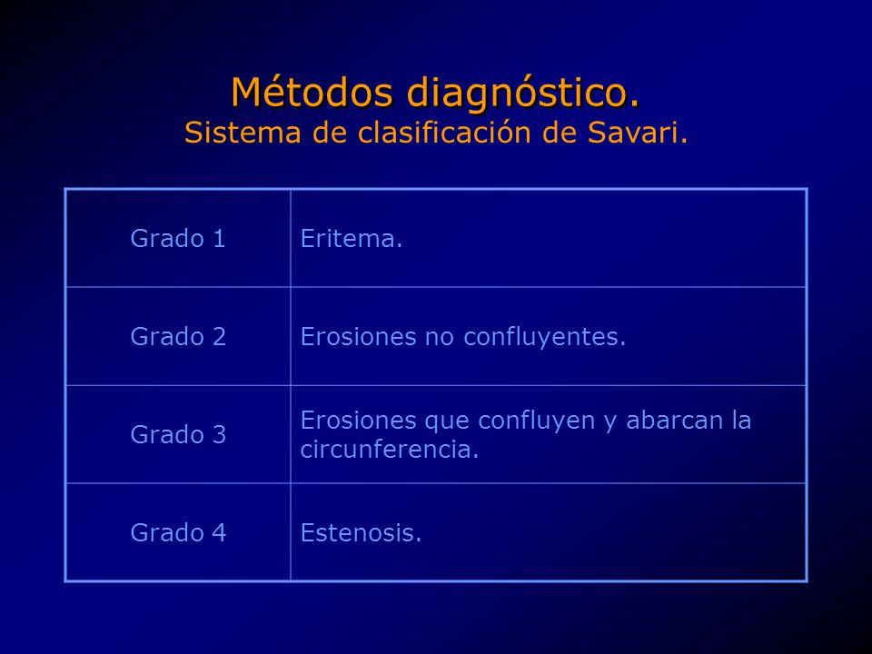Sistema de clasificación de Savari.