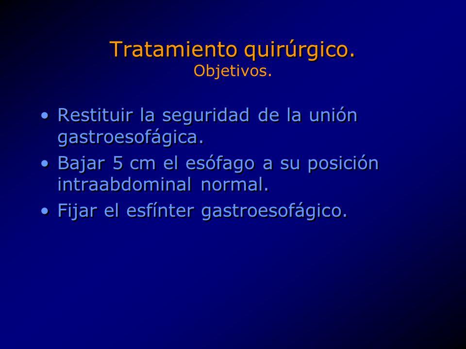 Tratamiento quirúrgico.