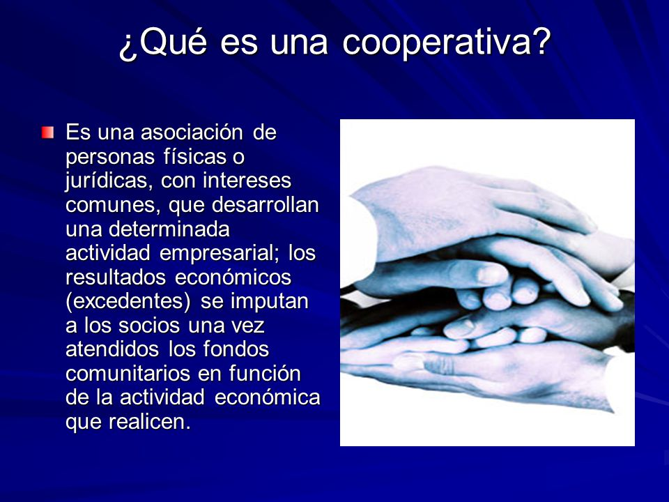 ¿Qué es una cooperativa