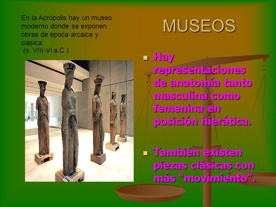En la Acrópolis hay un museo moderno donde se exponen obras de época arcaica y clásica.