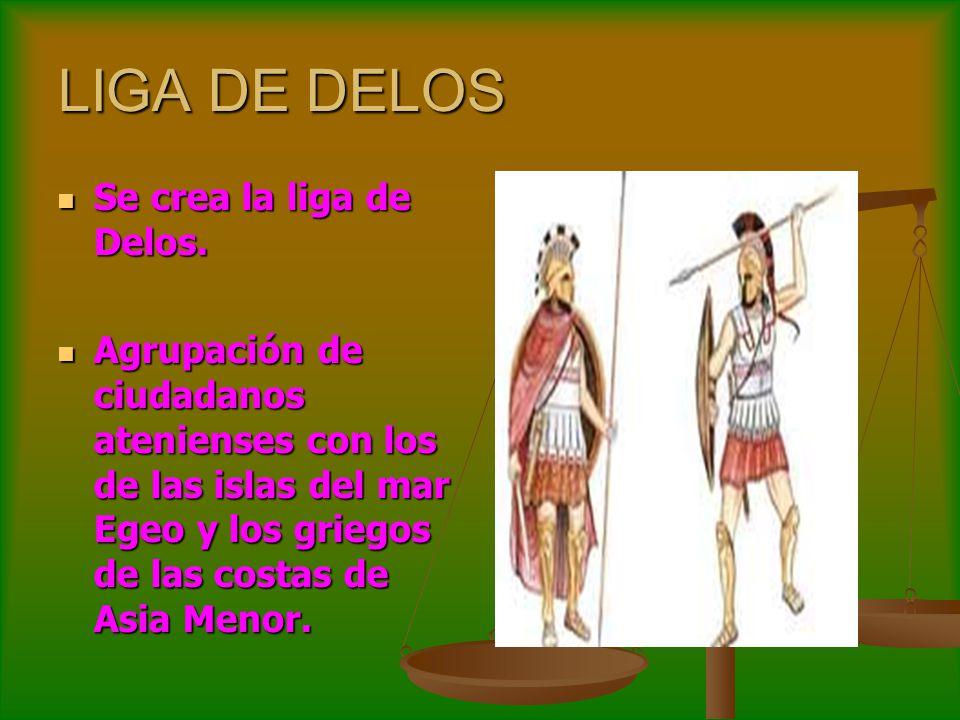 LIGA DE DELOS Se crea la liga de Delos.