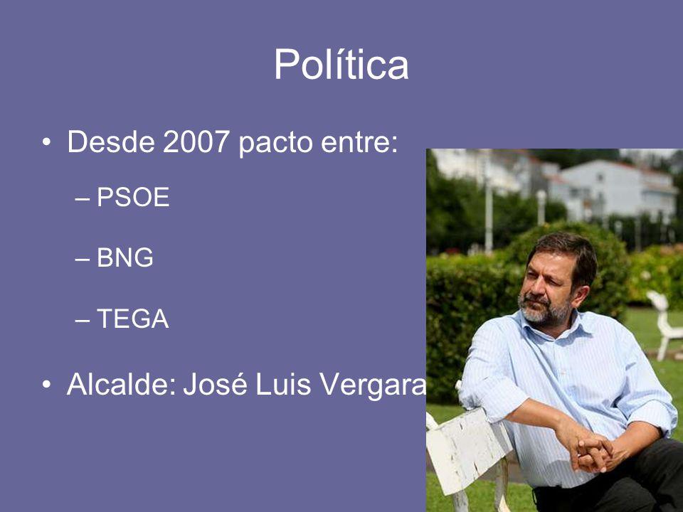 Política Desde 2007 pacto entre: Alcalde: José Luis Vergara PSOE BNG