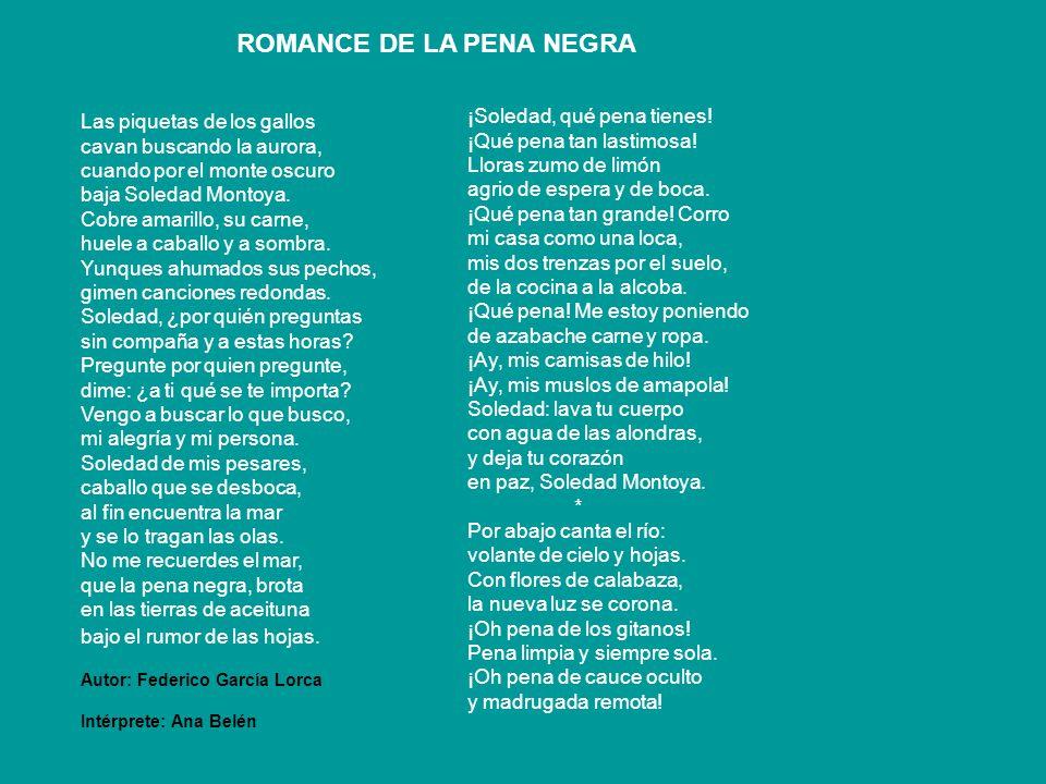ROMANCE DE LA PENA NEGRA