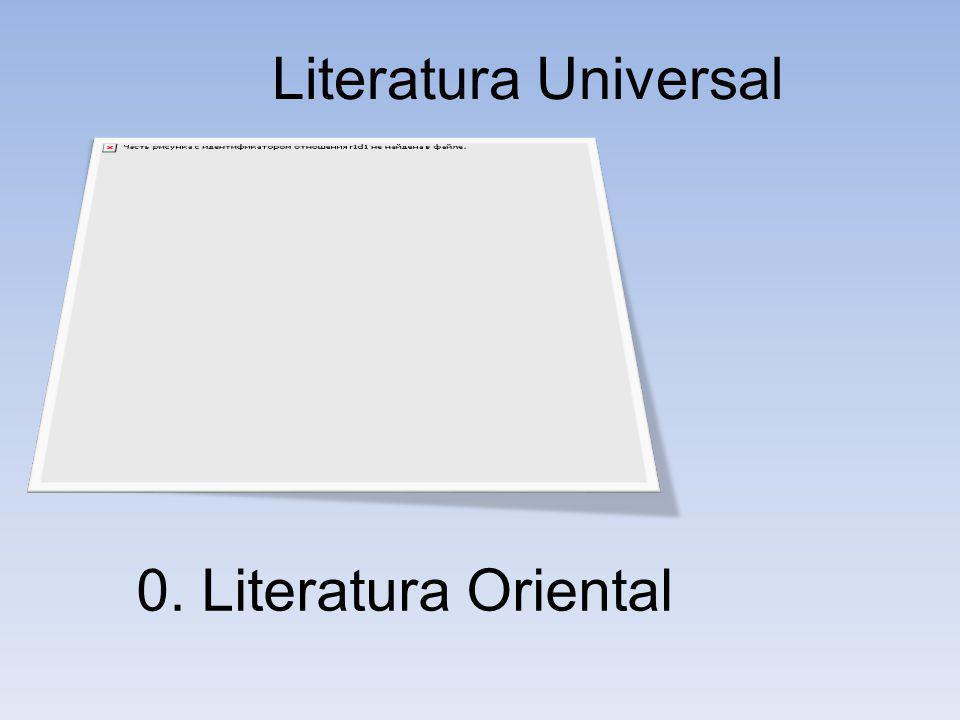 Literatura Universal 0. Literatura Oriental