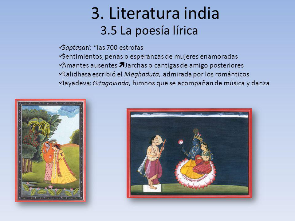 3. Literatura india 3.5 La poesía lírica Saptasati: las 700 estrofas