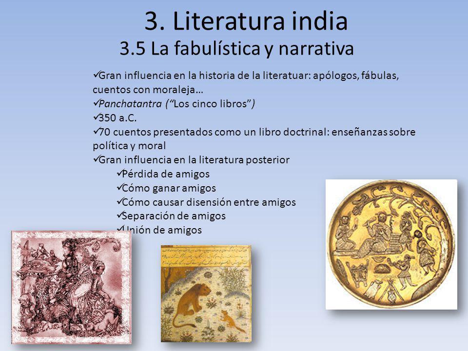 3.5 La fabulística y narrativa