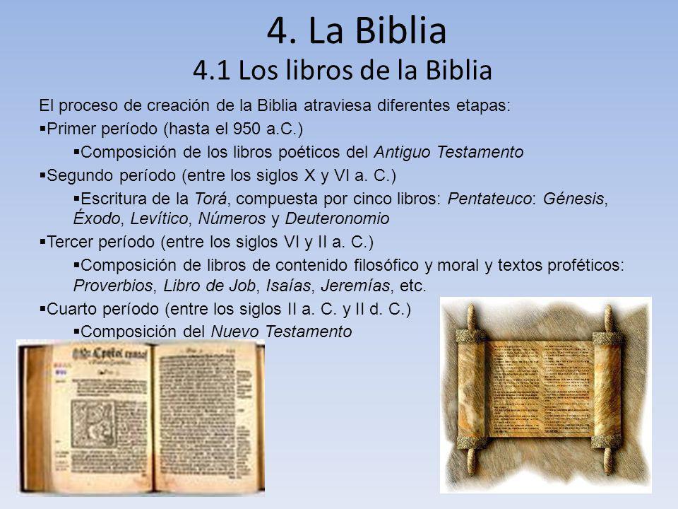 4. La Biblia 4.1 Los libros de la Biblia