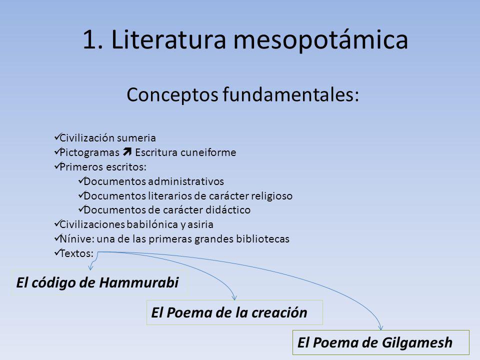 1. Literatura mesopotámica