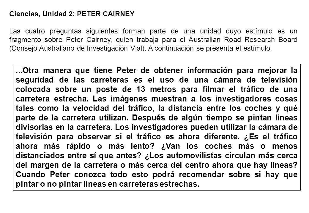 Ciencias, Unidad 2: PETER CAIRNEY