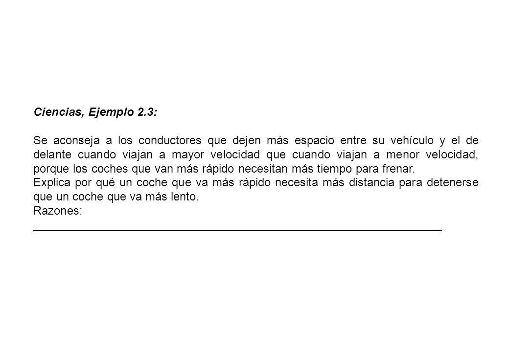 Ciencias, Ejemplo 2.3: