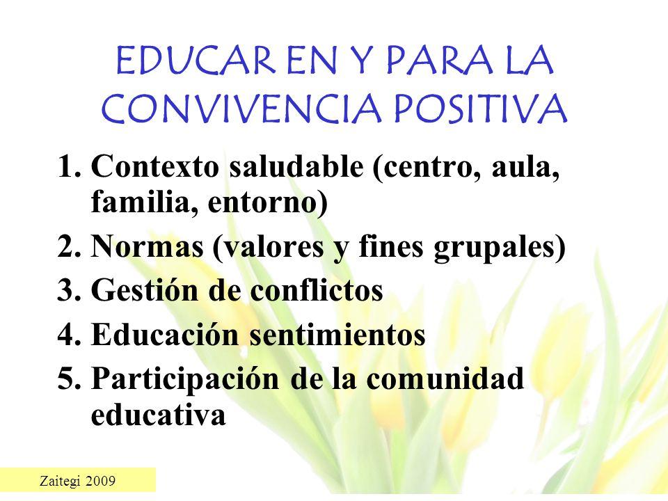 EDUCAR EN Y PARA LA CONVIVENCIA POSITIVA