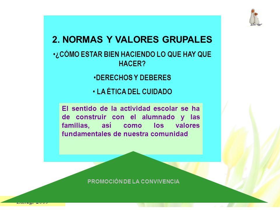 2. NORMAS Y VALORES GRUPALES