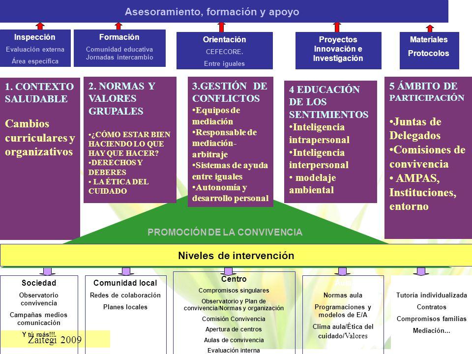 Cambios curriculares y organizativos Juntas de Delegados
