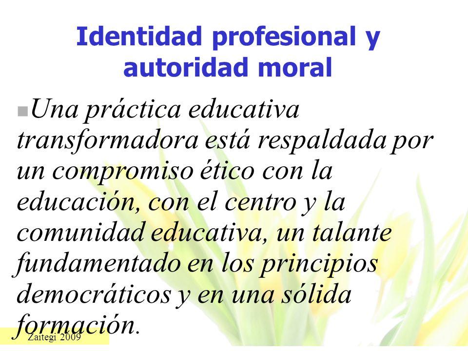 Identidad profesional y autoridad moral