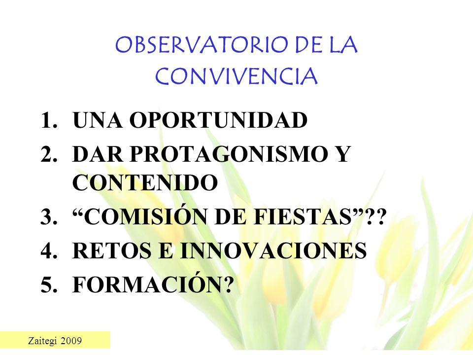 OBSERVATORIO DE LA CONVIVENCIA