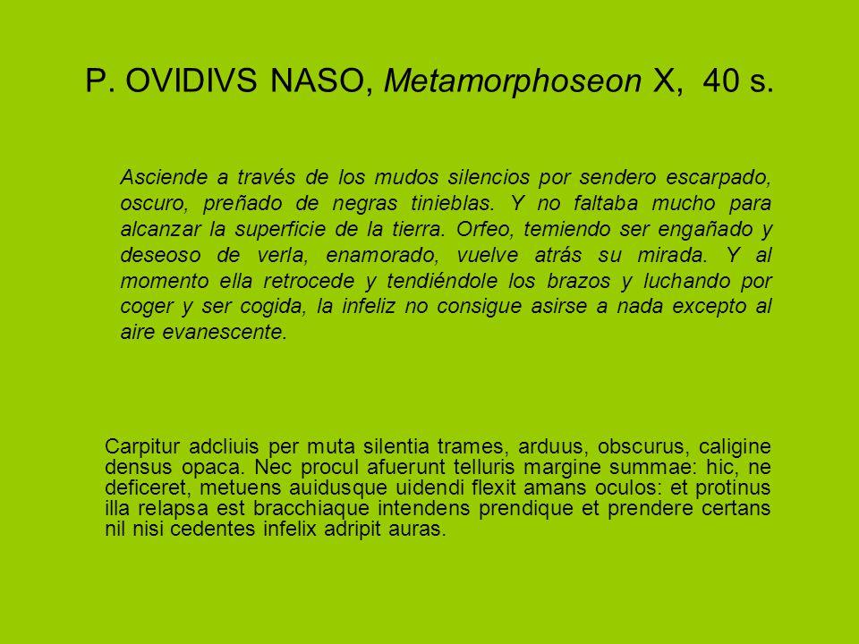 P. OVIDIVS NASO, Metamorphoseon X, 40 s.