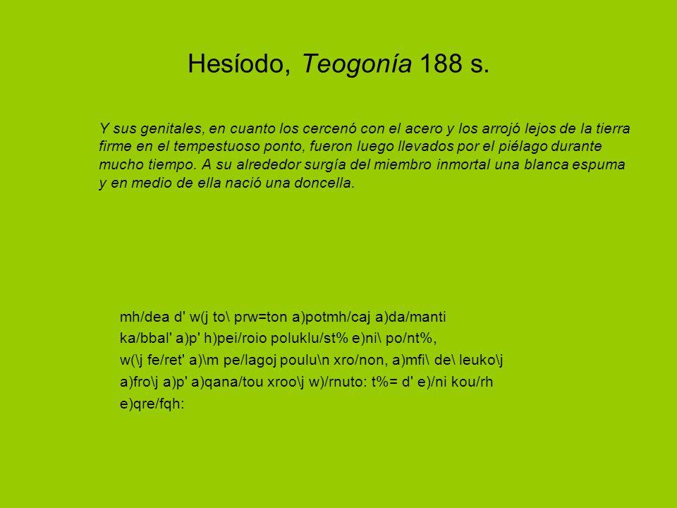 Hesíodo, Teogonía 188 s.