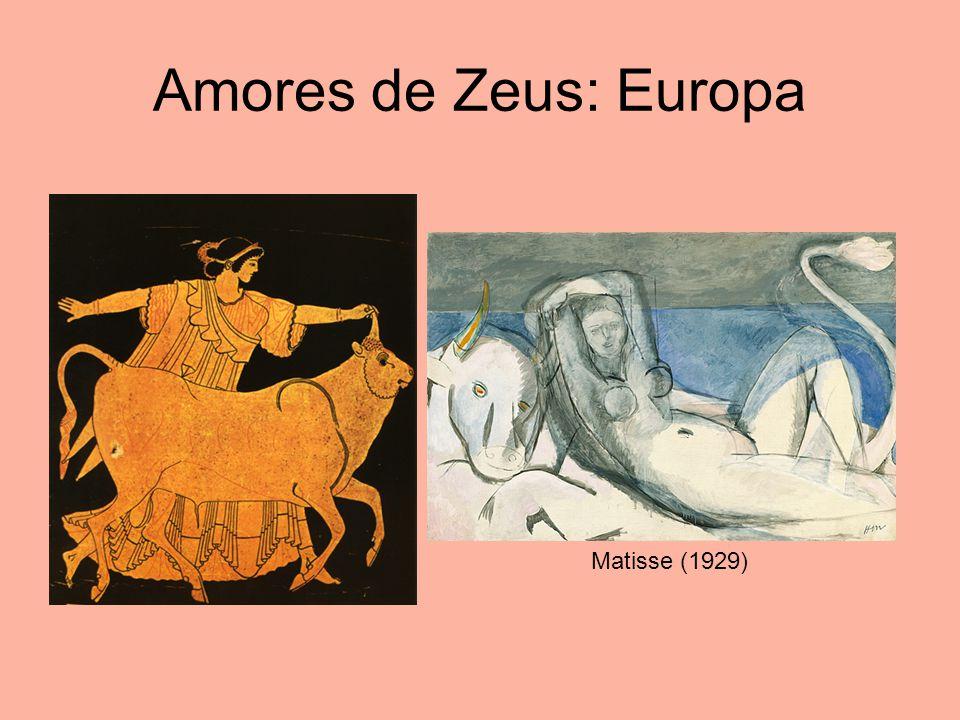 Amores de Zeus: Europa Matisse (1929)