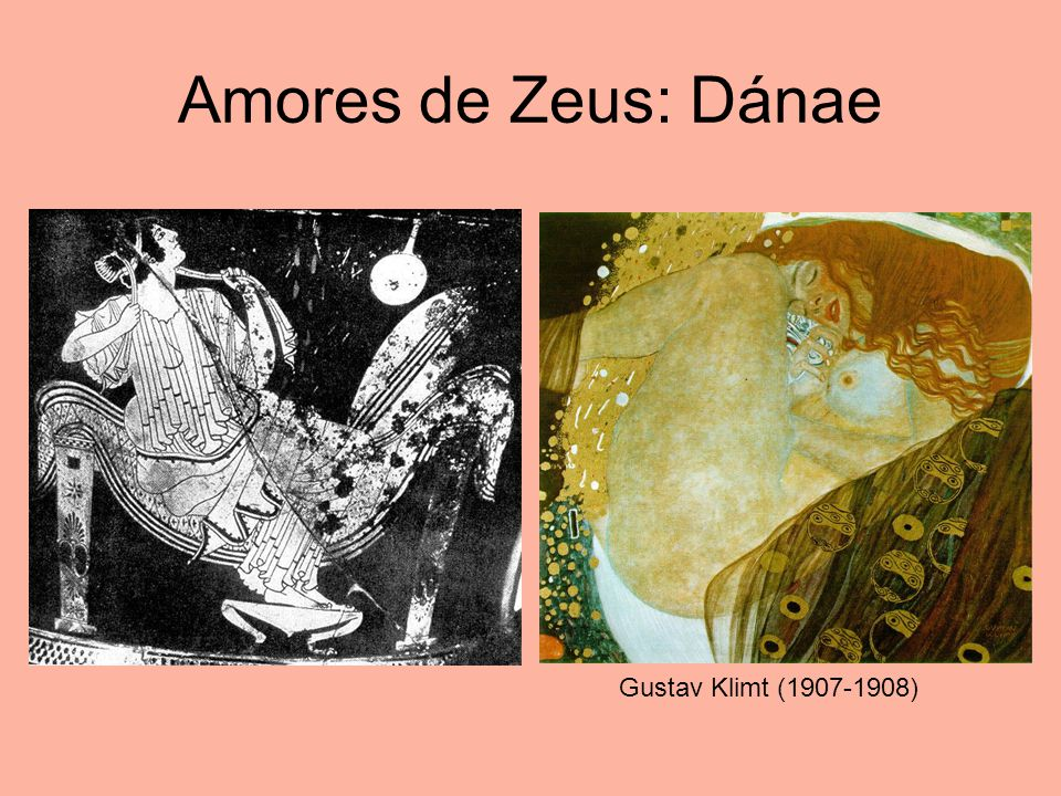 Amores de Zeus: Dánae Gustav Klimt (1907-1908)