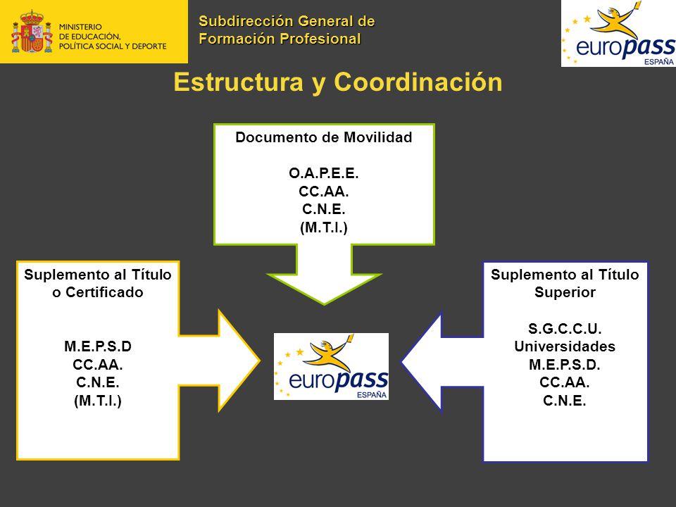 Estructura y Coordinación