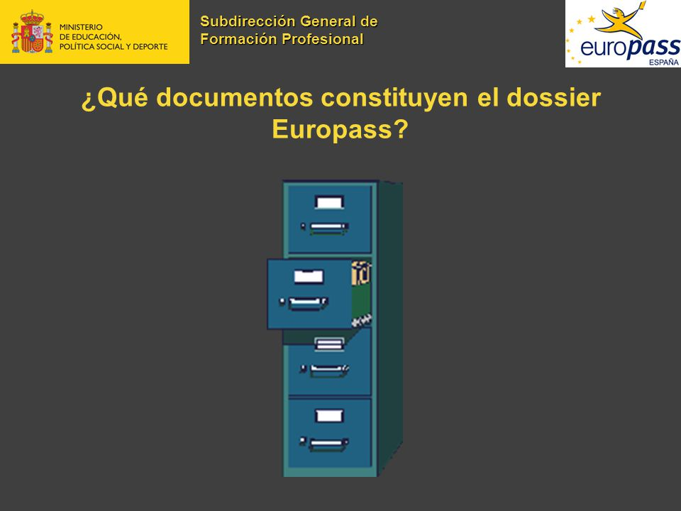¿Qué documentos constituyen el dossier Europass