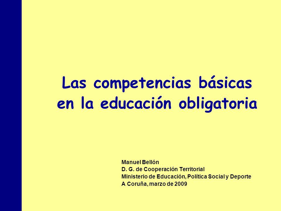 Las competencias básicas en la educación obligatoria