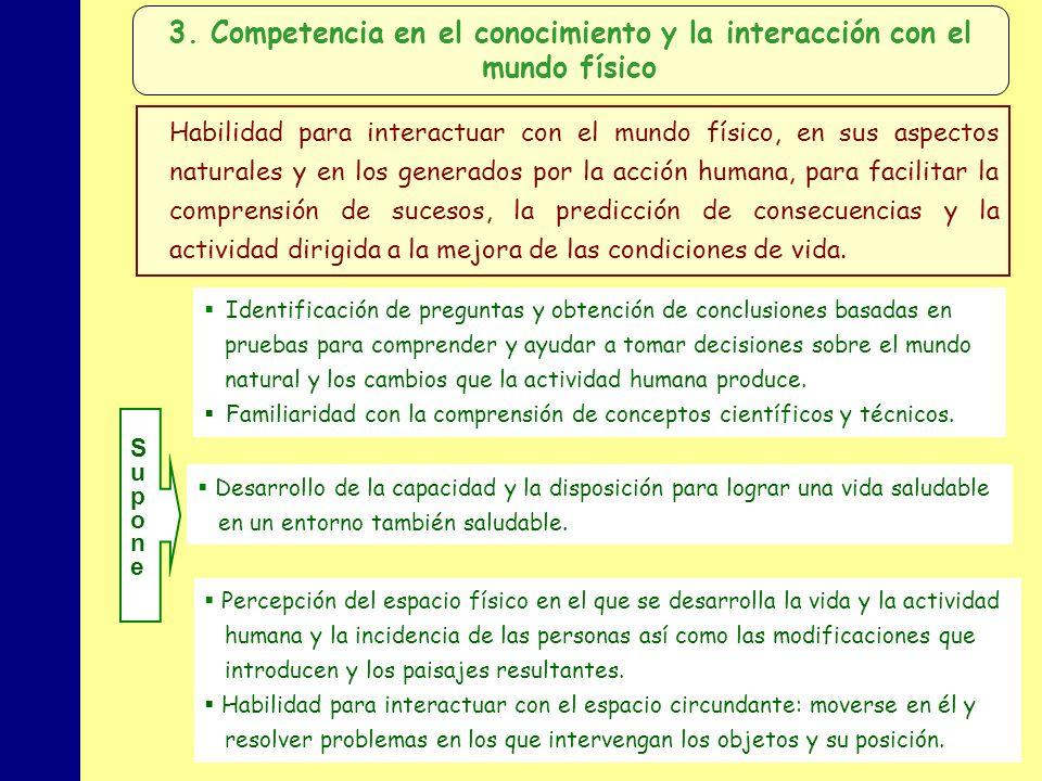 3. Competencia en el conocimiento y la interacción con el mundo físico