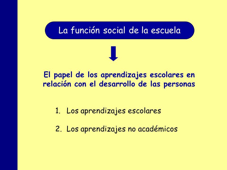 La función social de la escuela