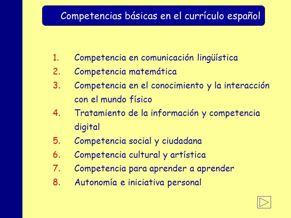 Competencias básicas en el currículo español
