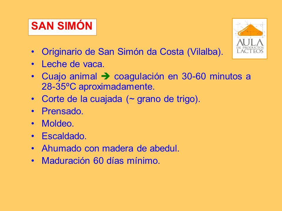 SAN SIMÓN Originario de San Simón da Costa (Vilalba). Leche de vaca.