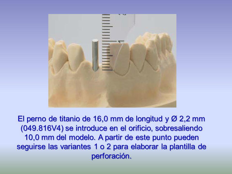 El perno de titanio de 16,0 mm de longitud y Ø 2,2 mm (049