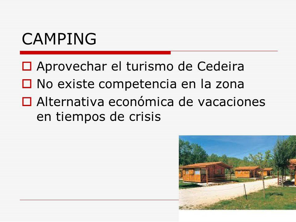 CAMPING Aprovechar el turismo de Cedeira