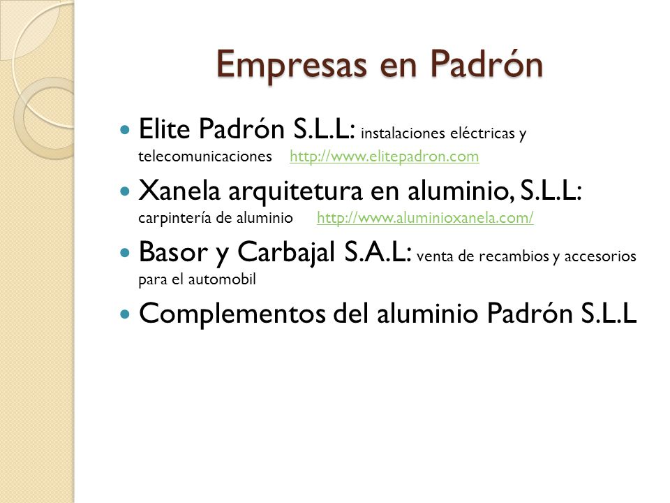 Empresas en Padrón Elite Padrón S.L.L: instalaciones eléctricas y telecomunicaciones http://www.elitepadron.com.