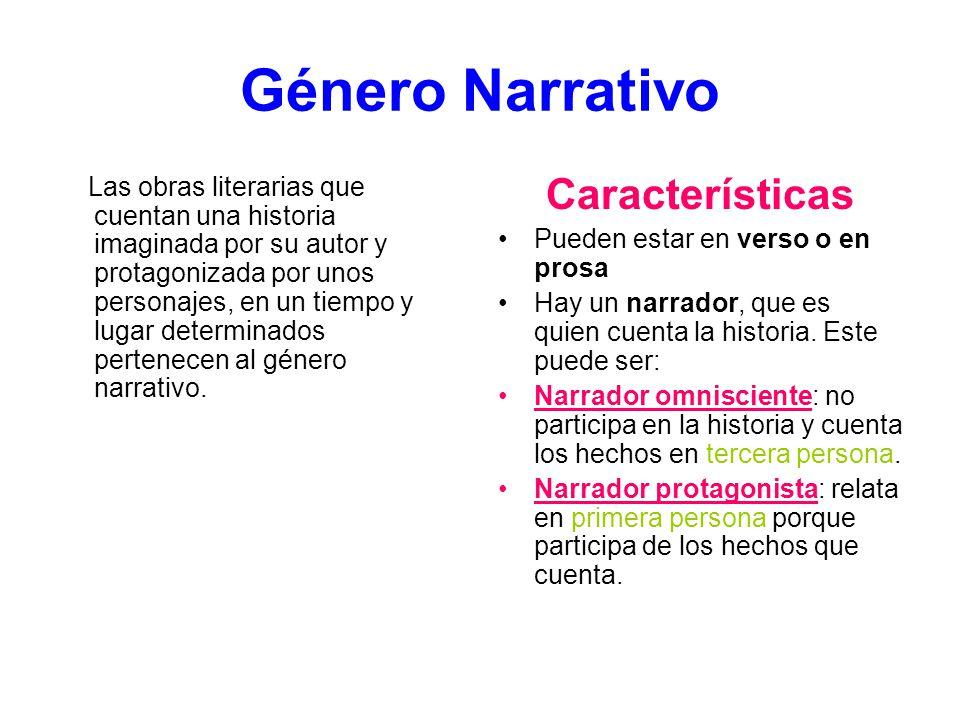 Género Narrativo Características