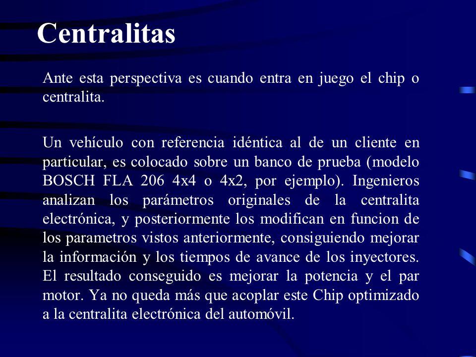Centralitas Ante esta perspectiva es cuando entra en juego el chip o centralita.