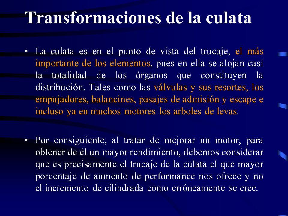 Transformaciones de la culata