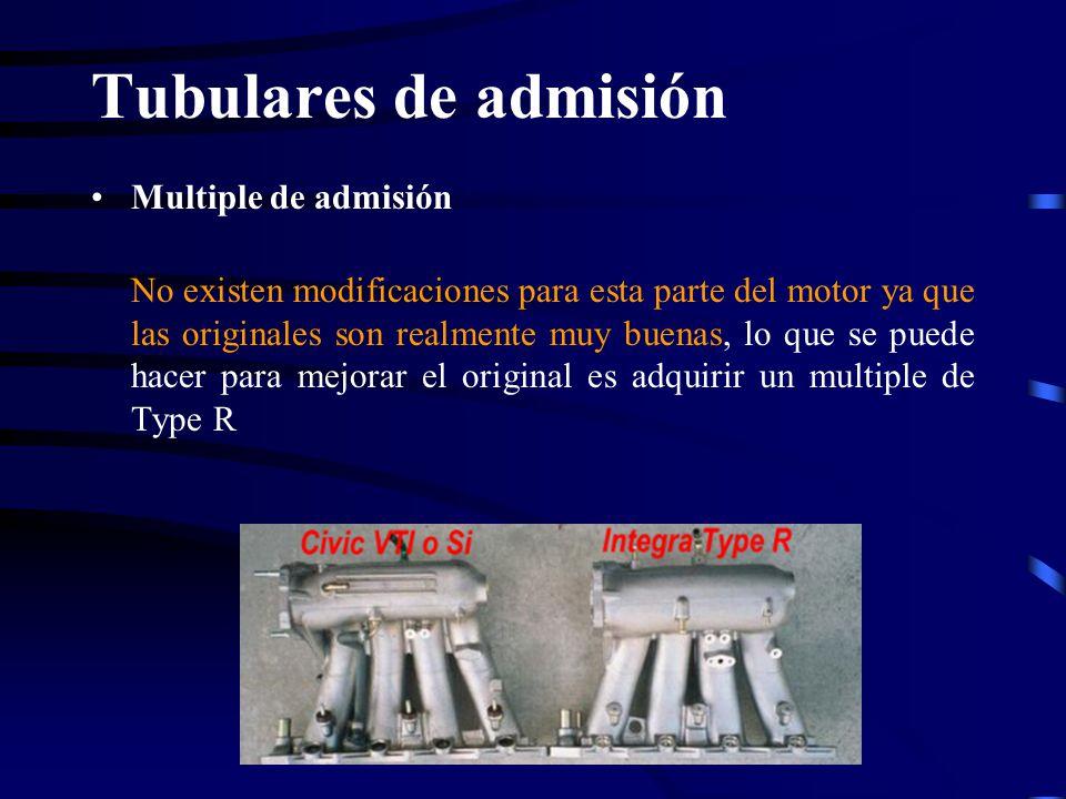Tubulares de admisión Multiple de admisión