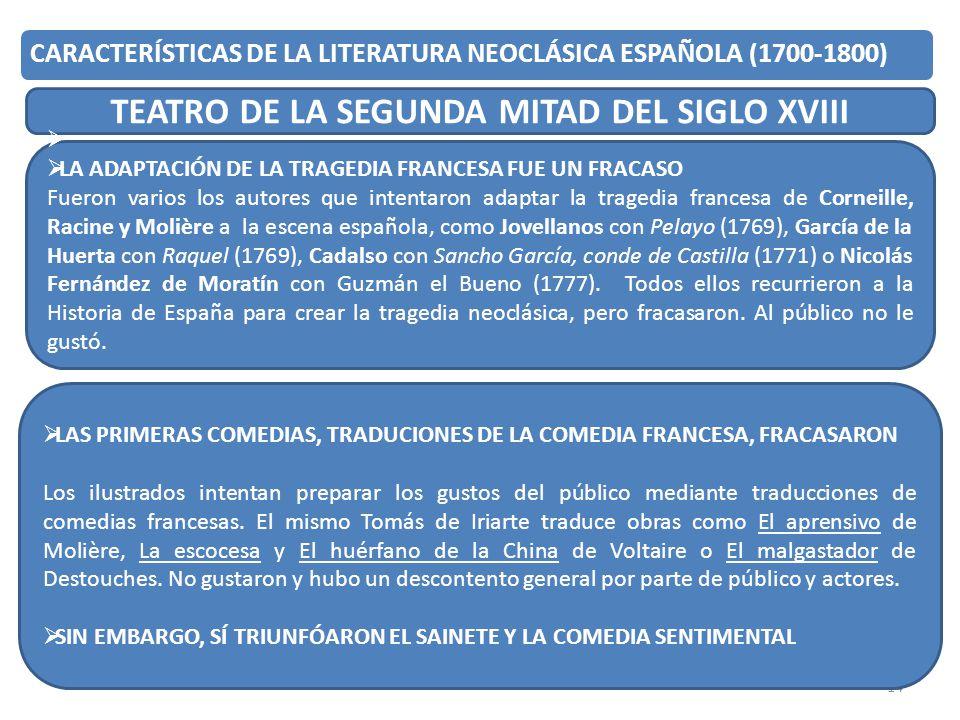 TEATRO DE LA SEGUNDA MITAD DEL SIGLO XVIII