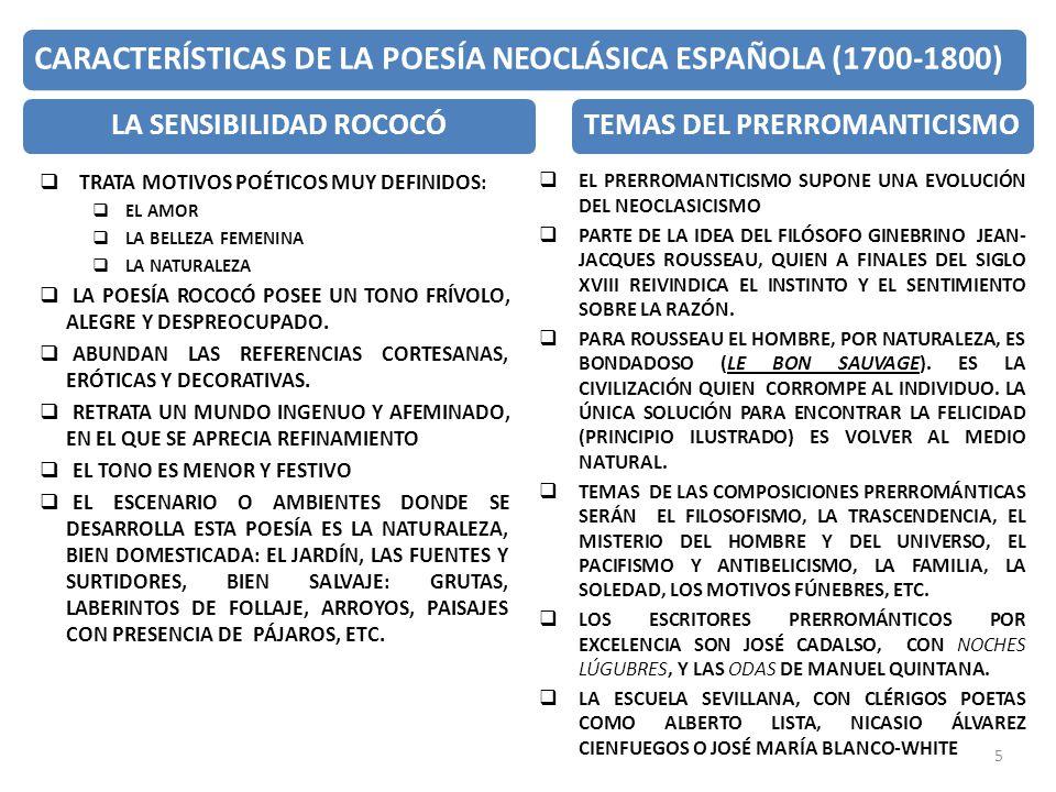 LA SENSIBILIDAD ROCOCÓ TEMAS DEL PRERROMANTICISMO