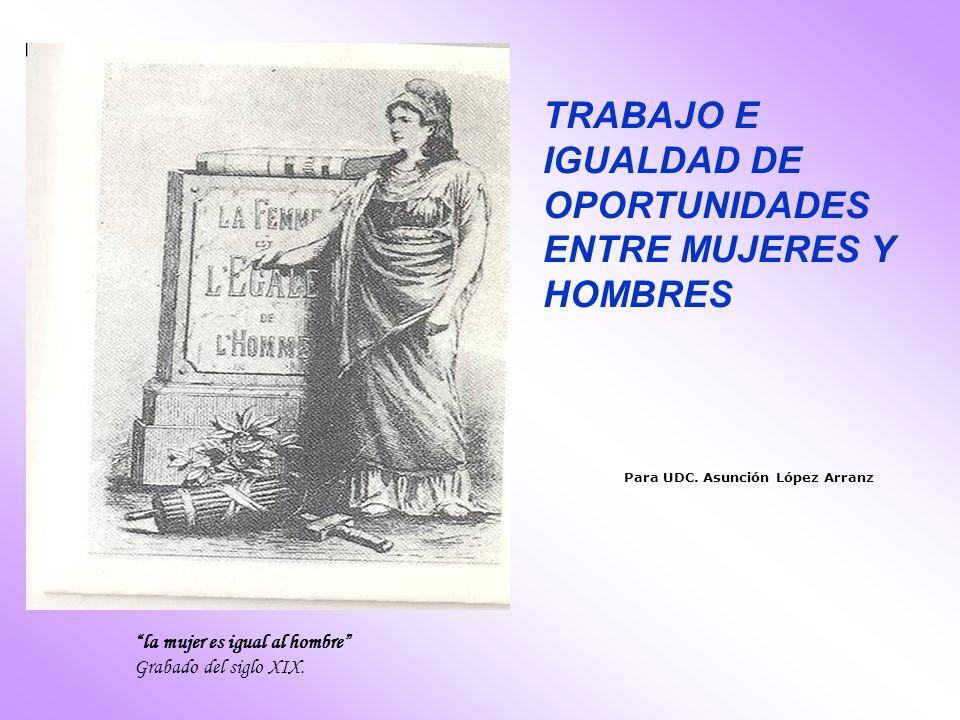 TRABAJO E IGUALDAD DE OPORTUNIDADES ENTRE MUJERES Y HOMBRES