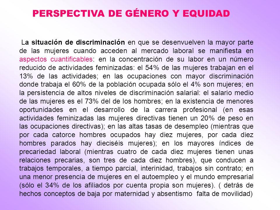 PERSPECTIVA DE GÉNERO Y EQUIDAD