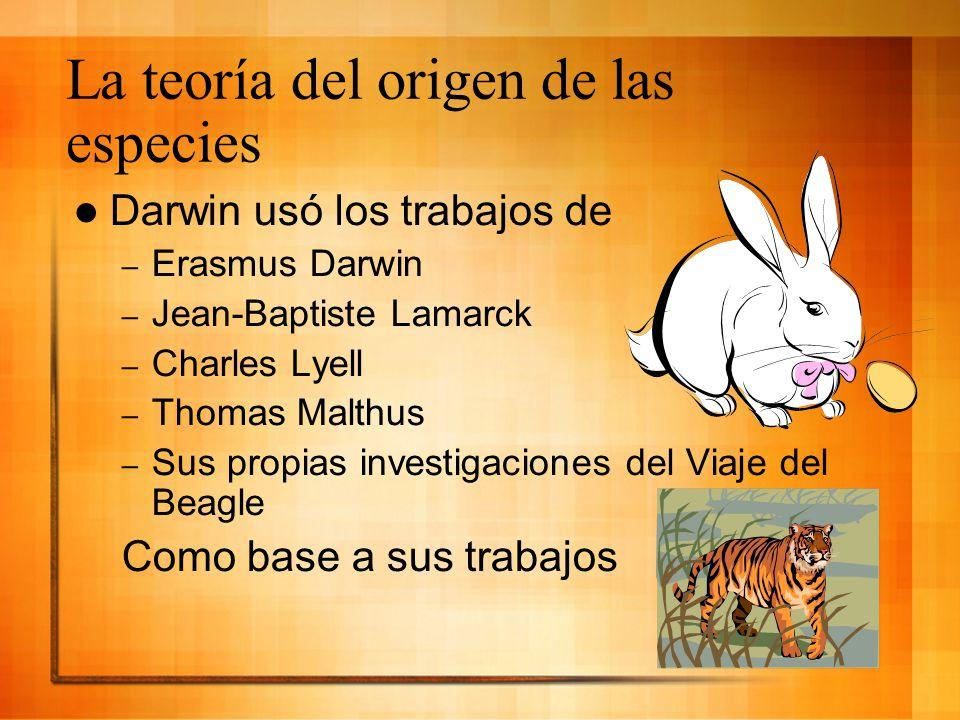 La teoría del origen de las especies