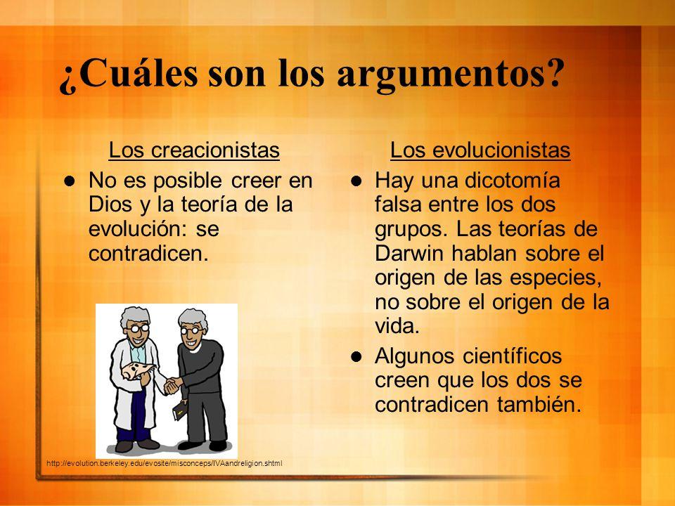 ¿Cuáles son los argumentos