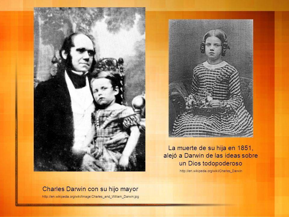 Charles Darwin con su hijo mayor