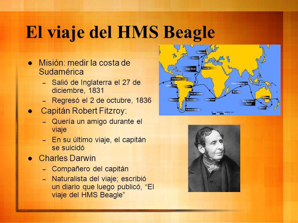 El viaje del HMS Beagle Misión: medir la costa de Sudamérica
