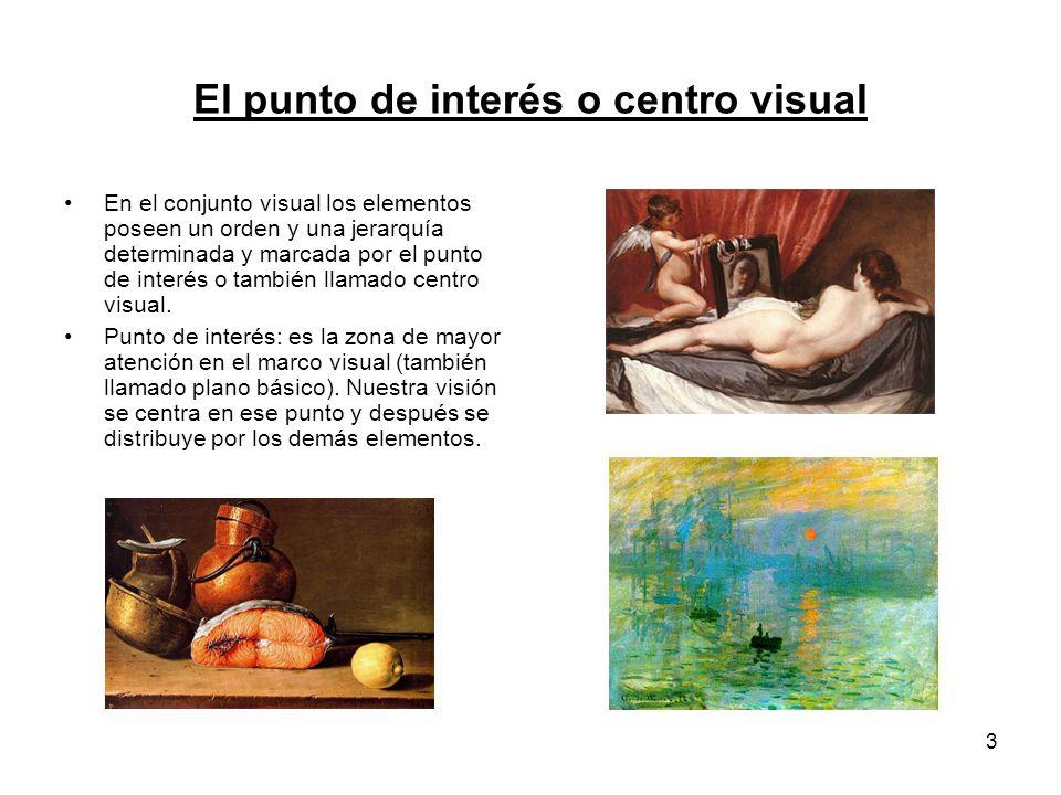 El punto de interés o centro visual