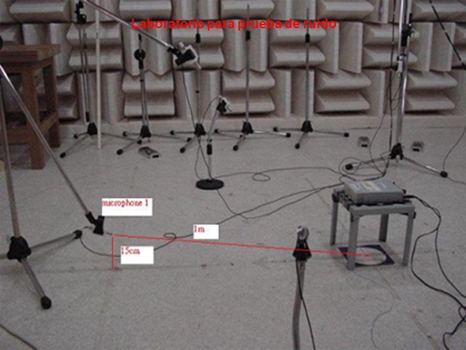Laboratorio para prueba de ruido