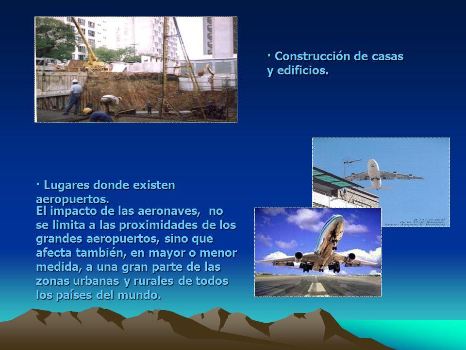 · Construcción de casas y edificios.