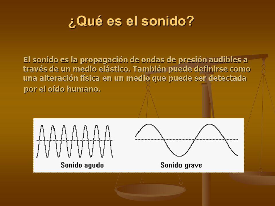 ¿Qué es el sonido por el oído humano.